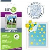 Easy Life Pack x3 Malla mostiquera Anti-Polen para Ventanas 130 x 150 cm - Mosquitera en Blanco con Cinta Adhesiva