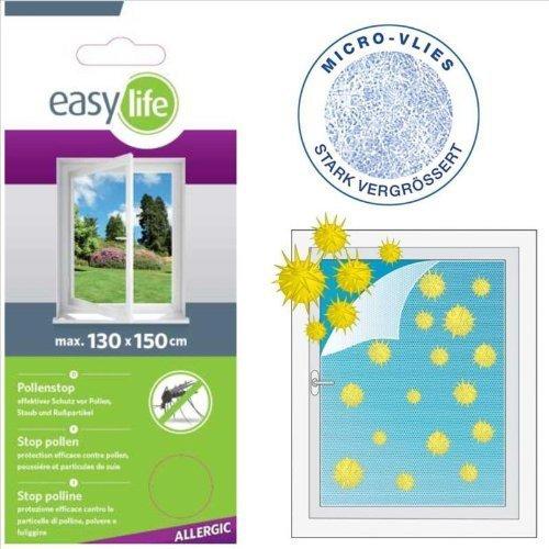 Pollenstop Fenstergitter Pollenschutzvlies Vlies 130 x 150 cm