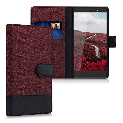 kwmobile Huawei Honor 7 / Honor 7 Premium Hülle - Kunstleder Wallet Case für Huawei Honor 7 / Honor 7 Premium mit Kartenfächern und Stand