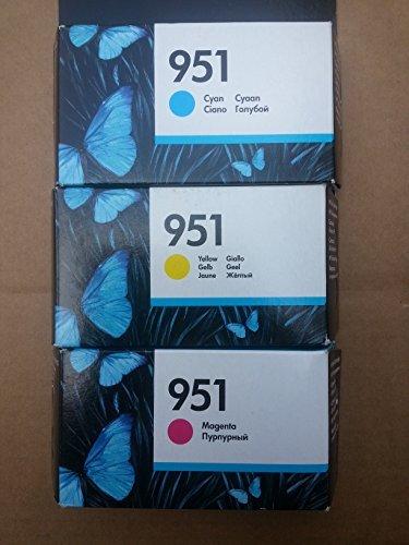 3 Original Druckerpatronen für HP Officejet Pro 8600 Plus (Cyan/Yellow/Magenta) Tintenpatronen