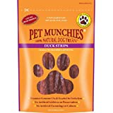Pet Munchies 100% Natural Strips Ente 100g