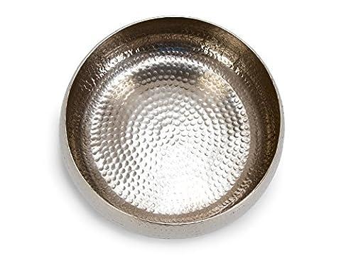 Massivum 20016830 Deko Schale, Metall, silber, 35 x 35 x 15 cm
