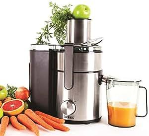 Duronic JE10 - Centrifuga 1000W per frutta e verdura intera con caraffa per centrifugati e succhi