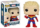 Funko- Comics Pop Bobble Captain Marvel Unmasked, 7274