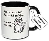 Spruchtasse Funtasse Bürotasse Katzen Tasse mit Spruch Kaffeetasse Tasse mit Aufdruck Katze