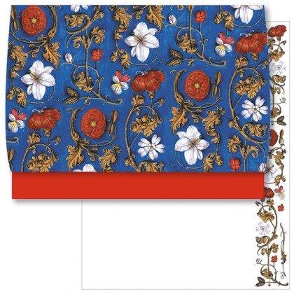 Schreib-Set 'FlŠmische Buchmalerei, Blumenornamente' Rannenberg und Friends