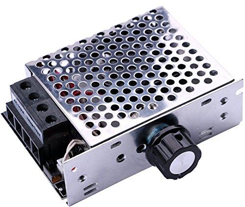 Yeeco Electrónico SCR Alto Voltaje Regulador de Voltaje Velocidad Gobernador Termostatos Regulador de Intensidad Motor Controlador AC 220V 10000W con El Disipador Térmico del Ventilador
