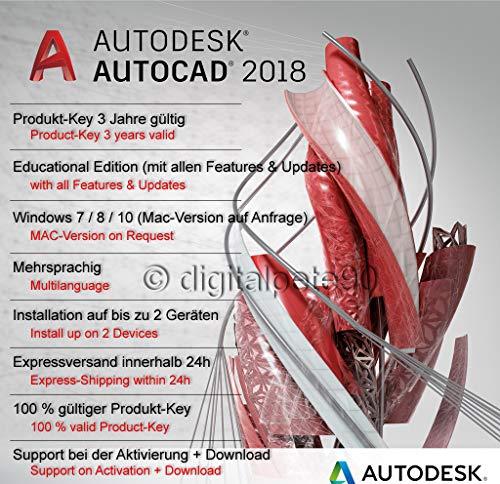 Autodesk AutoCAD 2018 | Digitale Lizenz / 3 Jahre | Windows | Expressversand 24h