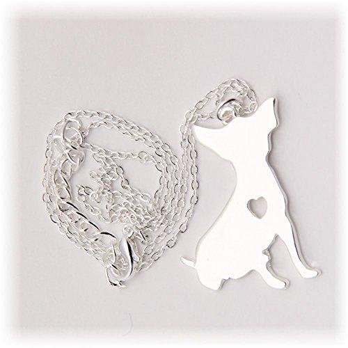 Collana con pendente di Chihuahua. gioiello