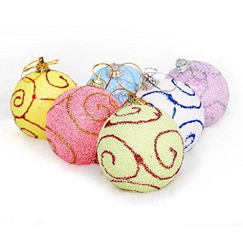 wanshop® 1Stück Weihnachten Kugeln XMAS TREE Dekorationen Aufhängen Home Party Ornament Decor 6Pcs A