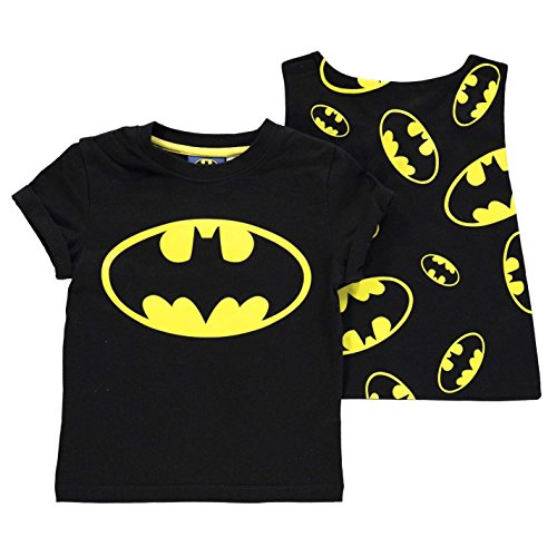 Character Kinder Jungen T Shirt Kurzarm Rundhals Print Freizeit Regular Fit Batman 5-6 Yrs (T-shirts Braune Kurz)