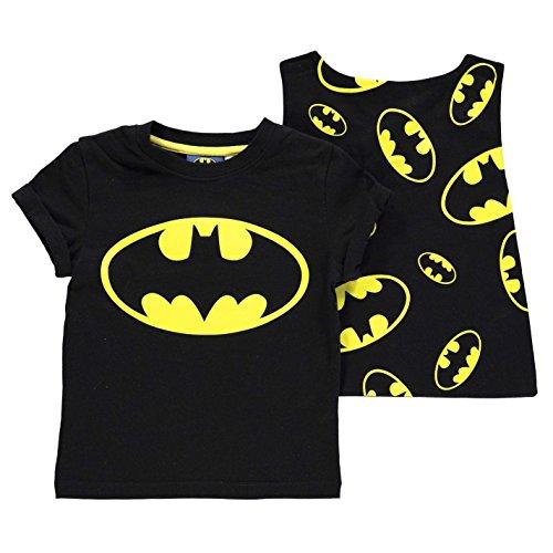 Character Enfant Garçons T-Shirt Tee Top Haut Manche Courte Col Rond Casual Batman 4-5 Ans