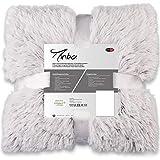 CelinaTex Minka Bettwäsche 200 x 220 cm 3teilig Longhair Felloptik Bettbezug Creme weiß grau