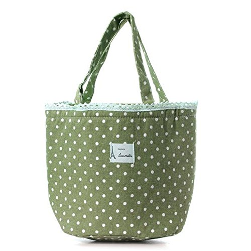 ODN Green Thermal Insulated Lunch Box Tote Kuehler Tasche Bento Picknick Tasche Mittagessen Container