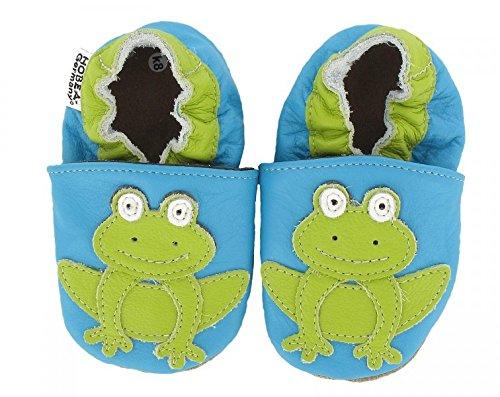 Kinderschuhe in verschiedenen Farben und Design mit Tieren von HOBEA-Germany Frosch