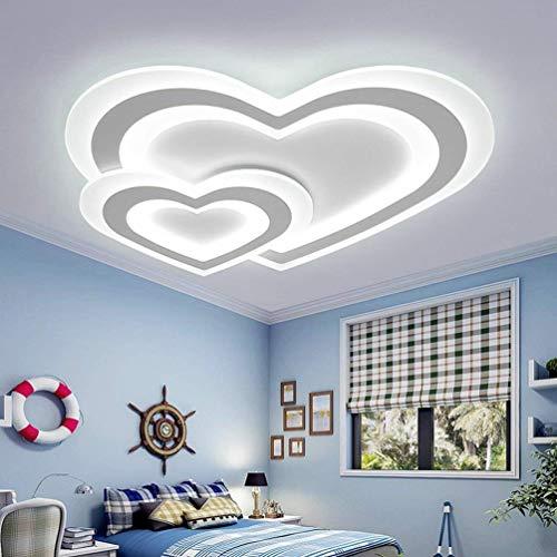 WOF Modern LED Deckenleuchte Dimmbar Wohnzimmerlampe Zeitgenössische Innenbeleuchtung Deckenlampe Herz Kombination Design Kinderlampe Einfach Personalisierte Schlafzimmerlampe Ø60cm *H 4.5cm,44W