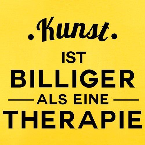 Kunst ist billiger als eine Therapie - Herren T-Shirt - 13 Farben Gelb