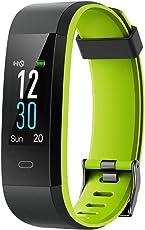 YAMAY Fitness Armband,Wasserdicht IP68 Fitness Tracker Pulsmesser Farbbildschirm Aktivitätstracker Pulsuhren Smartwatch Schrittzaehler Uhr Smart Watch Fitness Uhr für Damen Herren Aktualisierung