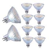 Liqoo 10 x 4W Ampoule LED MR16 GU5.3 Spot Light Lampe Bulb Blanc du Jour 4500K Eclairage 120° AC DC 12V 300lm Equivalente à Ampoule Halogène 30