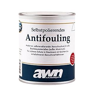 AWN Antifouling selbstpolierend für Boot & Yacht 0,75 bis 2,5 Liter in Schwarz, Rot, Blau (Rot, 2,5 l)