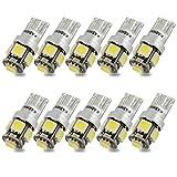 Kashine T10 W5W LED Ampoules de Voiture Lampe 501 194 168 5050 5 SMD LED Wedge Intérieur de Voiture Bulbs Blanc pour Arrière Lumières Frein Turn Lampes plaques d'immatriculation Lumières 12V