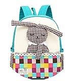 Jisen Unisex 1-6 Year-Old Kids School Bag Cute Cartoon 4D Rabbit Shape Doll