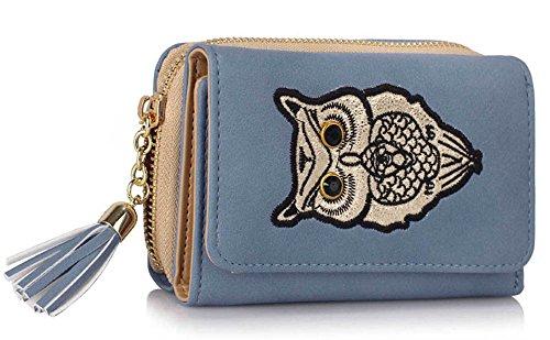 Trendstar Frauen Brieftaschen Damen Geldbörsen Kleine Hoch Qualität Mädchen Kartenhalter Neue E - Blau