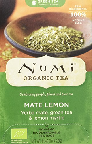 Numi Organic Mate Lemon Green - Rainforest Green 18 Beutel, 2er Pack (2 x 41 g) - Bio