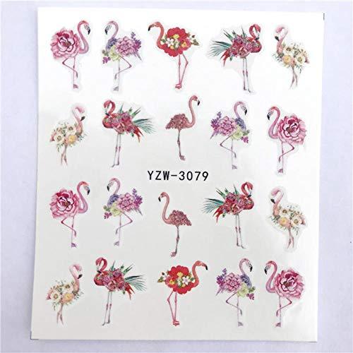 HUYDLD Nagelaufkleber 1 Stück Blume Reben Serie Für Nail art Wasserzeichen Tattoo Dekorationen Nail Sticker Wassertransfer Decals Dekoration Yzw-3079 -