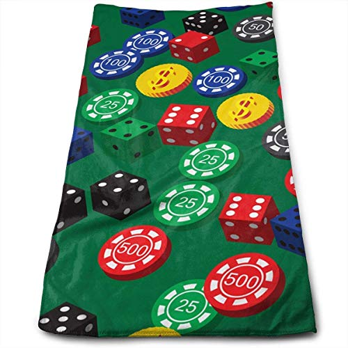 LULUZXOA Poker Chips Dice Pattern Microfiber Multi-Purpose