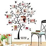 UJUNAOR Shrinkable Acryl Wandaufkleber Wand Sticker mit Abnehmbar Zweigen und Bilderrahmen(Multicolor,One size)