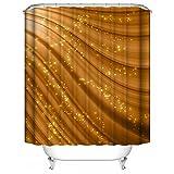 Tenda da doccia personalizzata Astratto marrone sfumato arancione brillante colore diamante Tenda da doccia impermeabile resistente del bagno del tessuto del poliestere della muffa 36' x 72'(90x180)