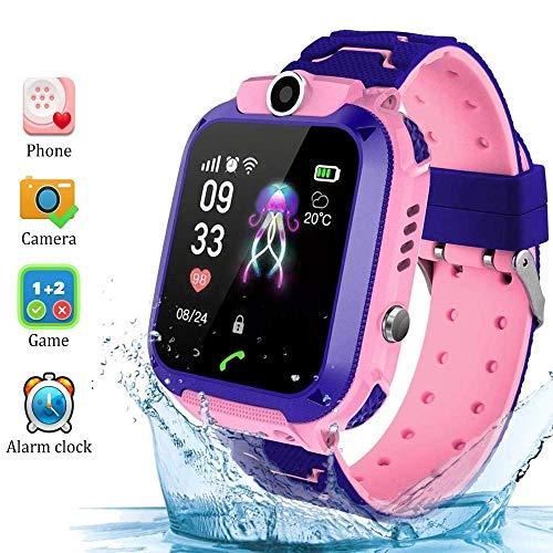 SmartWatch für Kinder Telefonfunktion mit SIM Kinder Smartwatch Uhr für 3, 5, 7, 9, 10, 12 Jahre Mädchen Wasserdicht Kinder Smartwatch Pink Rosa Phone Touchscreen Spiel Kamera Voice Chat