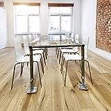 INDULOU Glastisch aus Baugerüst im Industrial Design Individueller Schreibtisch, Esstisch Konferenztisch 170x90 cm / 300x100 cm