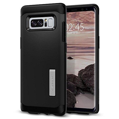Spigen Samsung Galaxy Note 8 Hülle, [Slim Armor] Integrierter Kickstand Doppelschicht Schutz Schutzhülle für Samsung Note8 Case Black (587CS21835)