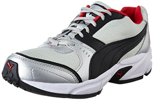 Puma Men's Argus DP Puma Black, Puma Silver and High Risk Running Shoes - 9 UK/India (43 EU)