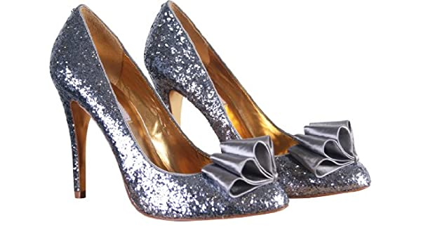 0dfaa54c8c7b7 Ted Baker Womens Mayter Silver Glitter Bow Court Shoes (6): Amazon ...