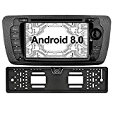 Ohok Android 8.0.0 Autoradio 7 Pulgadas 2 DIN Oreo Octa Core 4GB Ram 32GB ROM Reproductor DVD/GPS Navegador Radio Soporta Bluetooth WiFi AV-IN Dab SWC para Seat Ibiza 2009-2013 Incluida Camara