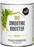 nu3 Smoothie Booster Balance - 100g Bio Frucht & Gemüsepulver-Mix - mit wichtigen Nährstoffen & Vitaminen - enthält Moringa, Chlorella, Ingwer & Weizengrass - 100% Vegan und ohne Zucker
