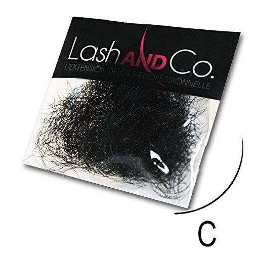 Lash & Co - Extensions de cils noires - Courbure C - Sachet de 0,5 g - - 0,15 - 6 mm