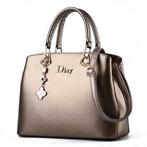 HQYSS Borse donna PU Donne multifunzionale in pelle a tracolla regolabile borsa Messenger Bag , rose red gold