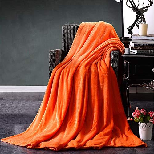 WANMT Wohn Kuscheldecken Bettwäsche Flanell-Normallackdecke warme Bettdecke, orange, 100 * 150cm -