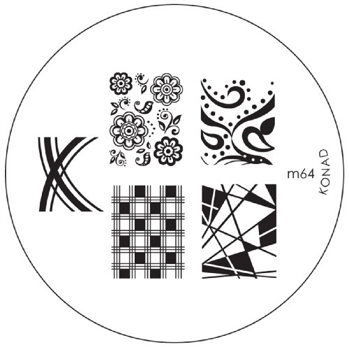 Konad Schablone m64 - Set Platten Konad
