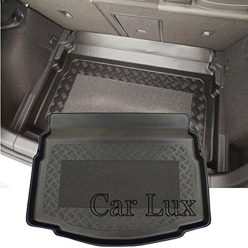 Car Lux AR02035 - Alfombra Cubeta Protector cubre maletero a medida con antideslizante para Golf VII