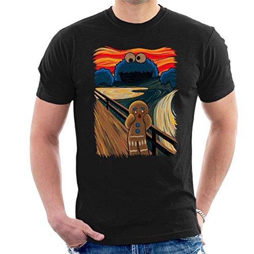 kie Muncher The Scream Shrek Sesame Street Men's T-Shirt ()