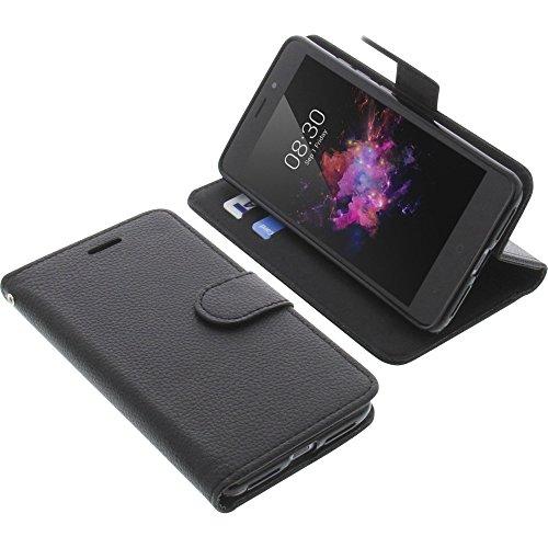 foto-kontor Tasche für TP-Link Neffos X1 Book Style schwarz Schutz Hülle Buch