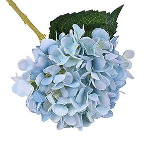 CTGVH Ramo de Flores Artificiales, simulación de Seda, Ramo de Hortensia, Gran Cabeza, decoración para Boda, habitación, hogar, Hotel, Fiesta, Restaurante DÃcor(Azul)