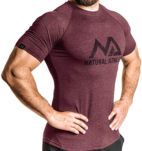 Herren Fitness T-Shirt meliert - Natural Athlet