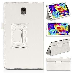DONZO Wallet Structure Tablet Tasche für Samsung Galaxy Tab S 8.4 T700 T705 Weiß