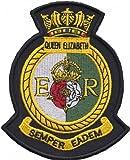1000Flaggen HMS Queen Elizabeth Royal Navy RN Oberfläche Fleet Wappen Mod bestickt Patch